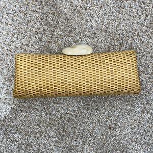Woven stone small clutch